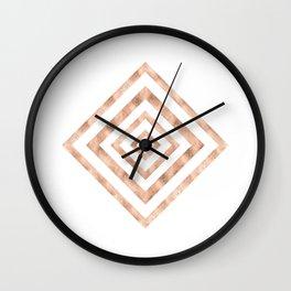 ART DECO SQUARES ROSE GOLD #minimal #art #design #kirovair #buyart #decor #home Wall Clock