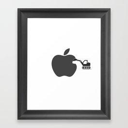 making of Apple Framed Art Print