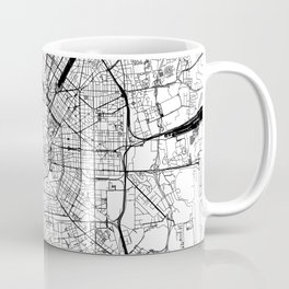 Milan White Map Coffee Mug