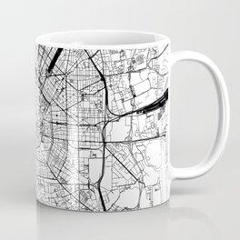 Milan White Map Coffee Mug