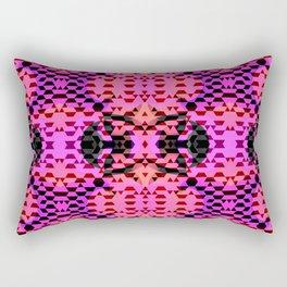 Pink Tribomb Rectangular Pillow