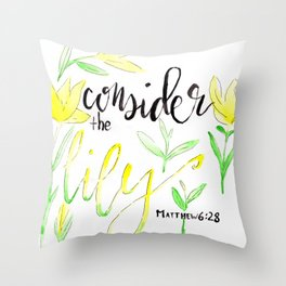 Consider the Lily Throw Pillow