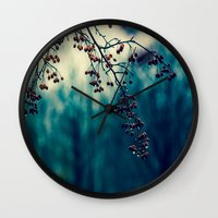 returns Wall Clocks featuring Diminishing Returns by Faded  Photos