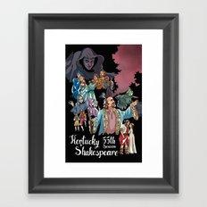 Kentucky Shakespeare 55 Season Framed Art Print