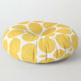 yellow polka dots Floor Pillow