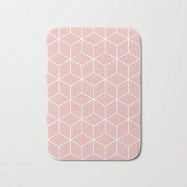 Cube Geometric 03 Pink Bath Mat