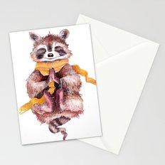 Raccoon buddha Stationery Cards