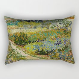"Vincent van Gogh ""Garden at Arles"" Rectangular Pillow"