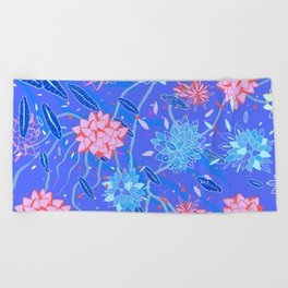 Heroinax Freaky Flowers Beach Towel