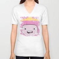 princess bubblegum V-neck T-shirts featuring Princess Bubblegum by Some_Designs