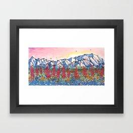 Denali Alpenglow Framed Art Print