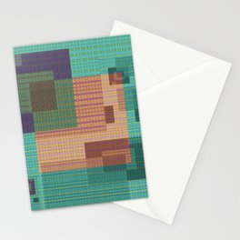 Weaving Loom Geometric Print 1 Stationery Cards