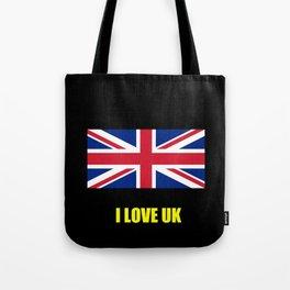 Flag of UK 7- London,united kingdom,england,english,british,great britain,Glasgow,scotland,wales Tote Bag