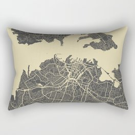 Auckland Map Rectangular Pillow