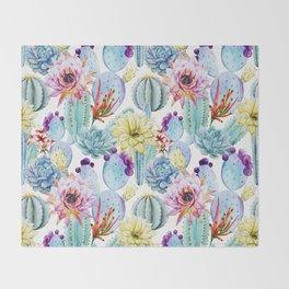Cactus Pattern 11 Throw Blanket