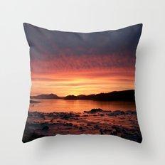 Frozen Sunset Throw Pillow