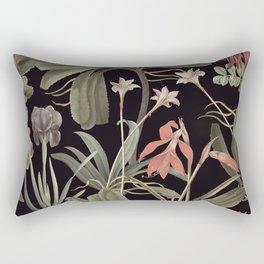 Dark Botanical Stravaganza Rectangular Pillow