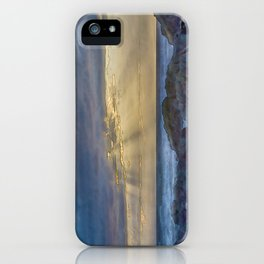 Sunset and God beams - watercolour iPhone Case