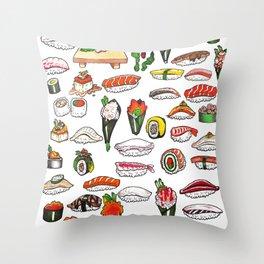 California Sushi 10,000 Throw Pillow