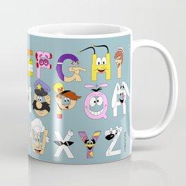 Breakfast Mascot Alphabet Coffee Mug