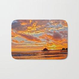 California Dreaming (cropped) ~ Huntington Beach Pier Bath Mat