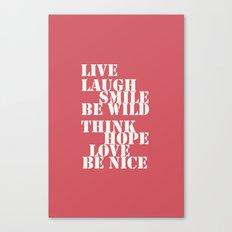 Positive attitude Canvas Print