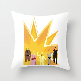 """The Gang"" Throw Pillow"