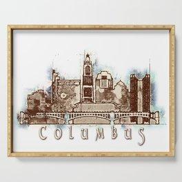 Columbus City Skyline Serving Tray