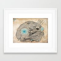 the thing Framed Art Prints featuring Thing. by Bläckbeärd