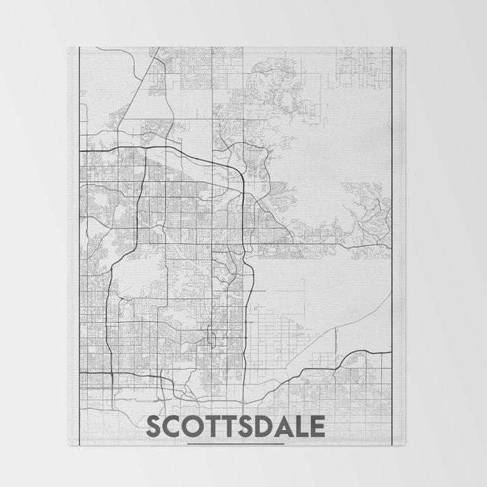 Map Of Just Arizona.Minimal City Maps Map Of Scottsdale Arizona United States Throw Blanket By Valsymot