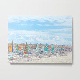 """Beach Front"" Metal Print"