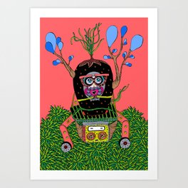 Lily time machine Art Print