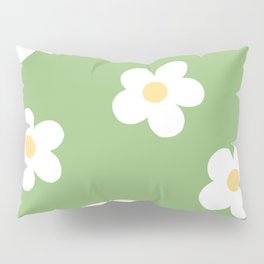 Retro 60's Flower Power Print Pillow Sham