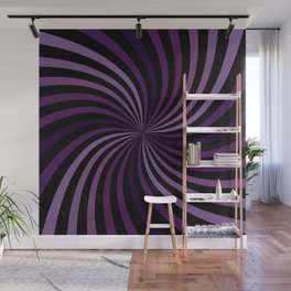 Purple Hypnotizing Swirl Wall Mural
