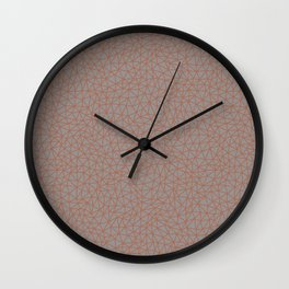 Sherwin Williams Cavern Clay Abstract Multi Sized Triangle Shape Pattern on Slate Violet Gray Wall Clock