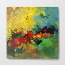 Colorful Landscape Abstract Art Print Metal Print