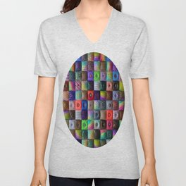 Patchwork of Joy Unisex V-Neck