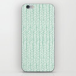 Knit Wave Mint iPhone Skin