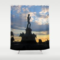 david fleck Shower Curtains featuring David by Ken Seligson