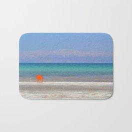 dead sea, orange chair Bath Mat
