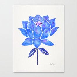Sacred Lotus – Blue Blossom Canvas Print