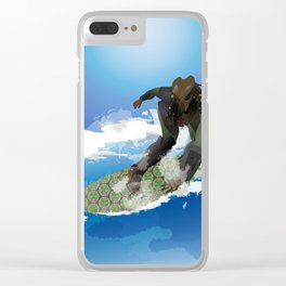Surfing Predator Clear iPhone Case