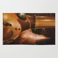 whiskey Area & Throw Rugs featuring Copper and Whiskey by Nadia Bonello - Trū Artwear