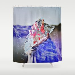 Cold Red Feathers by GEN Z Shower Curtain
