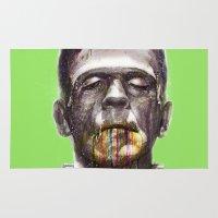 frankenstein Area & Throw Rugs featuring Frankenstein by beart24