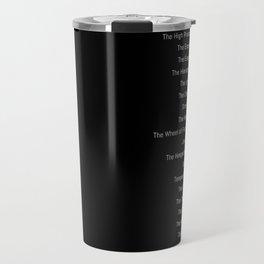 Tarot Major Arcana - The Fool's Morning Coffee Travel Mug
