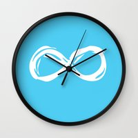 the fault in our stars Wall Clocks featuring Fault In Our Stars - Infinity by tangofox