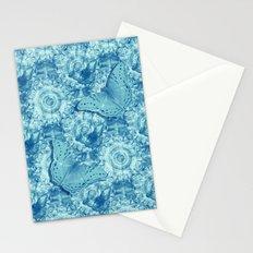 Butterflies on butterflies in blue Stationery Cards