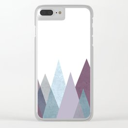 PLUM TURQUOISE MOUNTAINS GEOMETRIC Clear iPhone Case