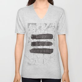 Love Each Other Unisex V-Neck